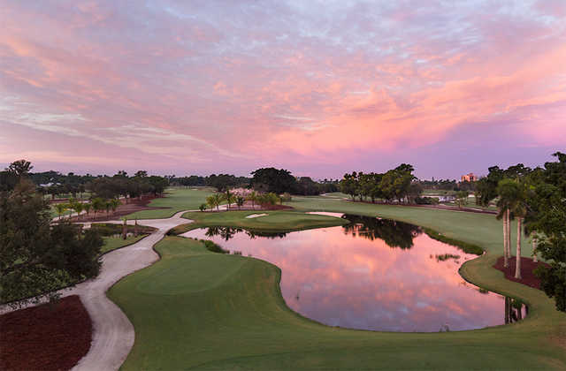 Aerial sunrize from Naples Beach Hotel & Golf Club - Resort