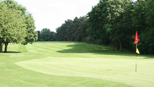 Looking back from a green at Haverhill Golf Club