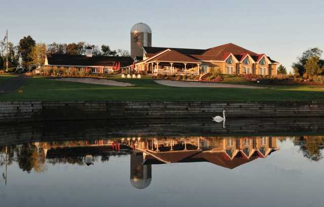 A view of the clubhouse at Spring Hollow Golf Course