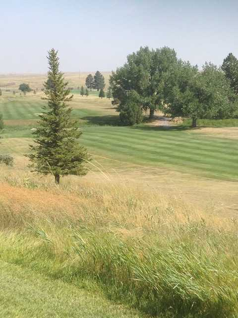 A view of a fairway at Lusk Municipal Golf Course