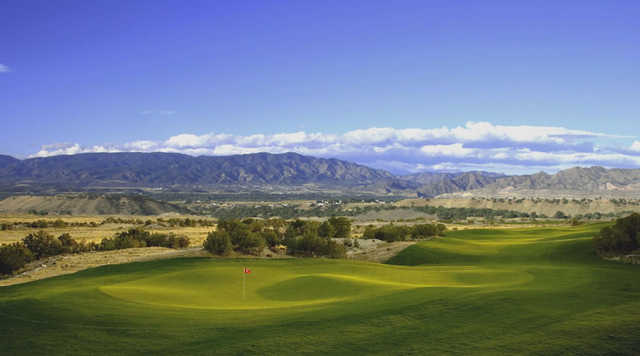 A view of a green at Four Mile Ranch Golf Club