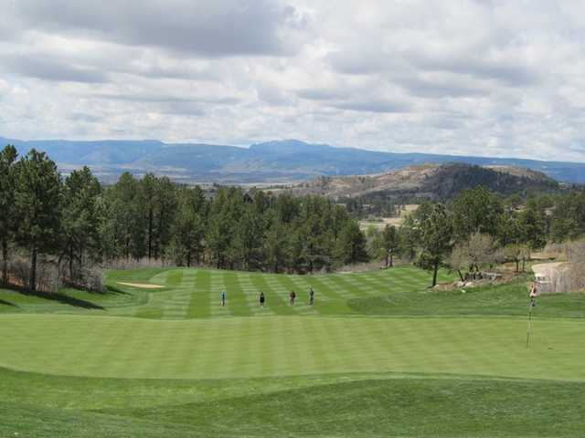 A view of green from Ridge at Castle Pines North
