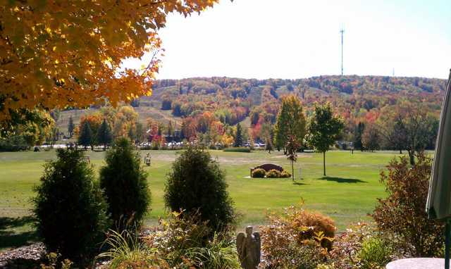 A fall day view from Rib Mountain Golf Course