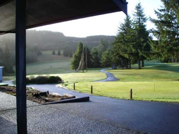 A view from the clubhouse at Highland Golf Course