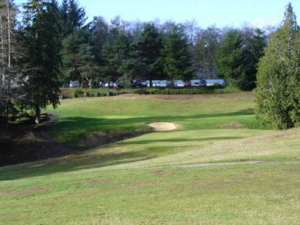 A view of a hole at Highland Golf Course