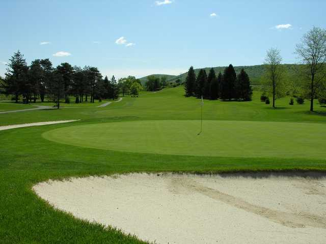 A view of hole #14 at Mountain View Country Club