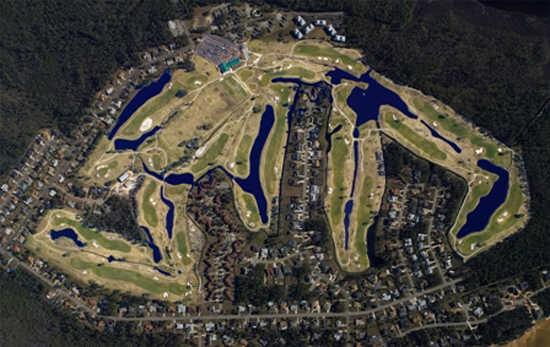 Aerial view of Perdido Bay Golf Club