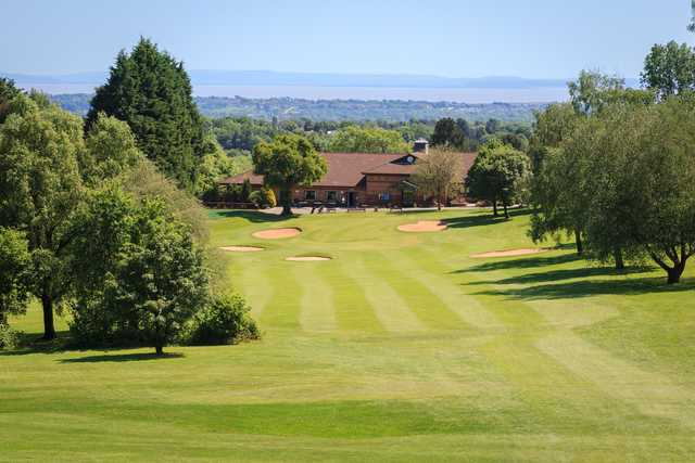 View of the finishing hole and clubhouse at Llanishen Golf Club
