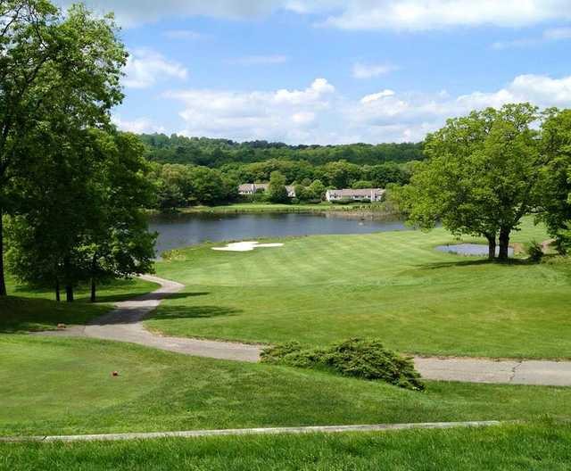 A view from a tee at Somers National Golf Club
