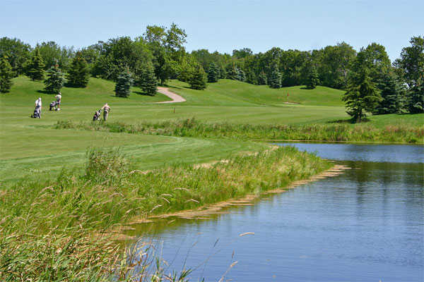 A view of green #7 at Whispering Ridge Golf Course
