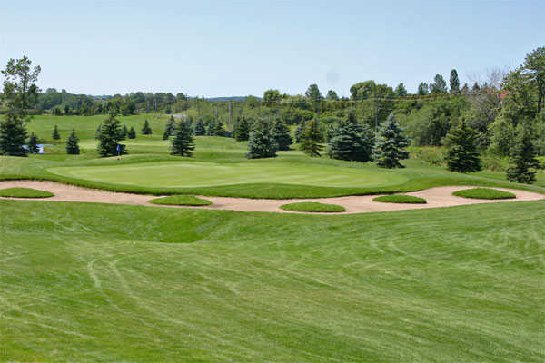 A view of hole #15 at Whispering Ridge Golf Course