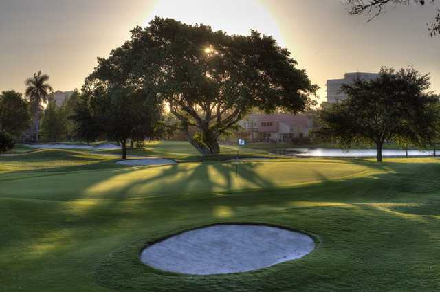 View of the 2nd green from the East course at Jacaranda Golf Club