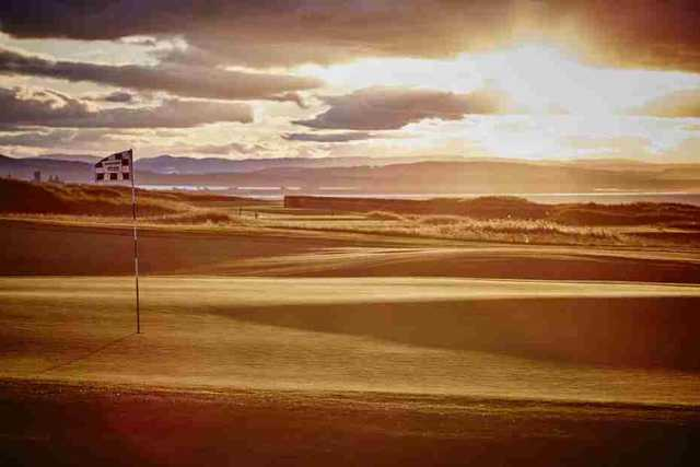 The Torrance course at sunset