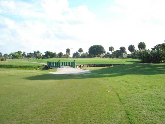 A view of hole #13 at Cypress Creek Country Club