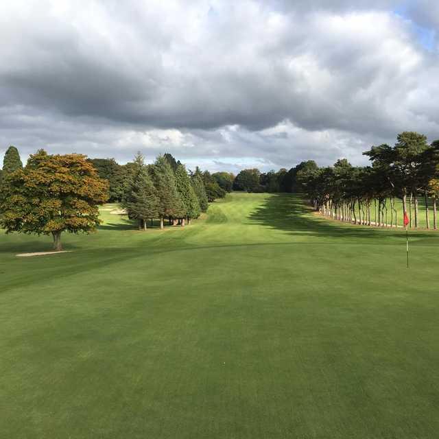 Looking back from a green at Lurgan Golf Club