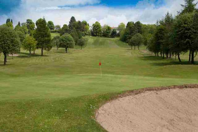 View of the 16th hole at Dalmuir Municipal Golf Course