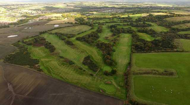 Aerial view from South Moor Golf Club