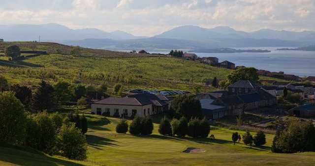 The view from the 12th hole at Port Glasgow Golf Club