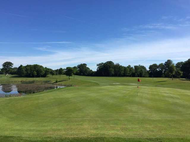 Looking back from the green at Grange Castle Golf Club