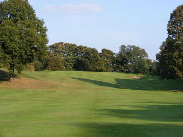 A tough looking approach shot at Crewe Golf Club