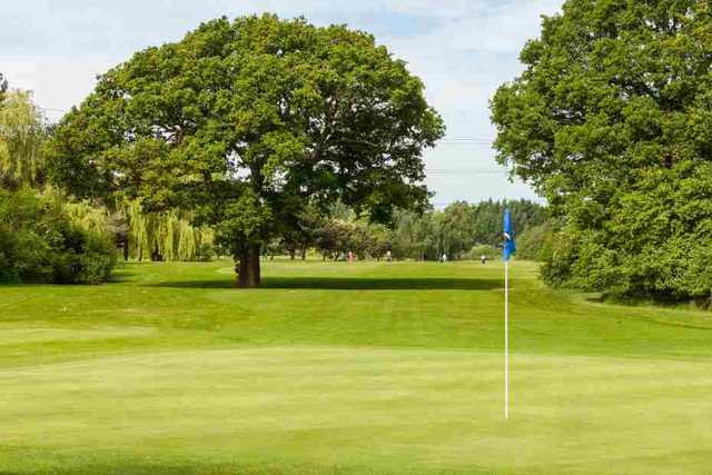 View from a green at Cheshunt Park Golf Centre