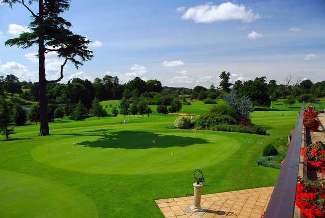 The putting green at Northampton Golf Club