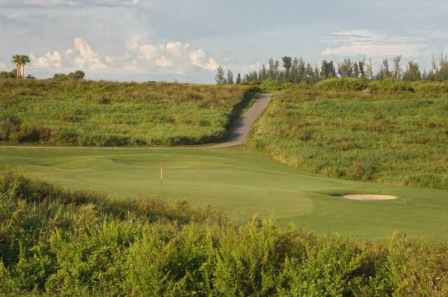 A view of the 11th green at Park Ridge Golf Course