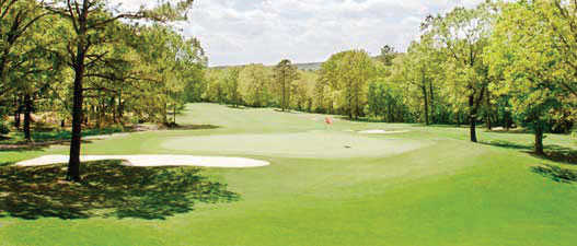 A view of a hole at Indian Hills Golf Resort