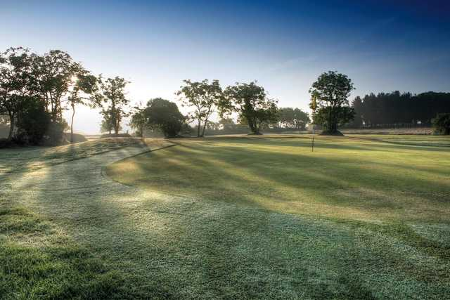 A view of a green at  Holsworthy Golf Club
