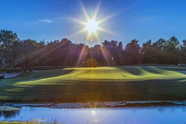 A sunny day view of a hole at Royal St. Cloud Golf Links