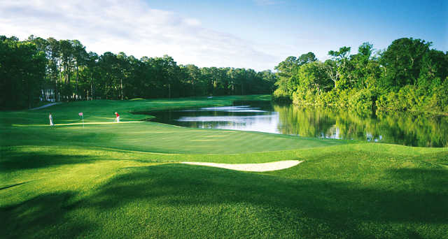 A splendid day view of a hole from Arthur Hills at Palmetto Hall Plantation