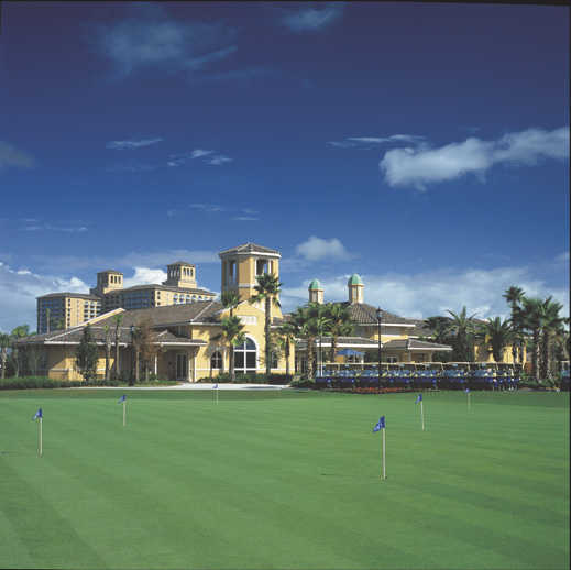 A view of the practice putting green at Grande Lakes at Ritz-Carlton Resort