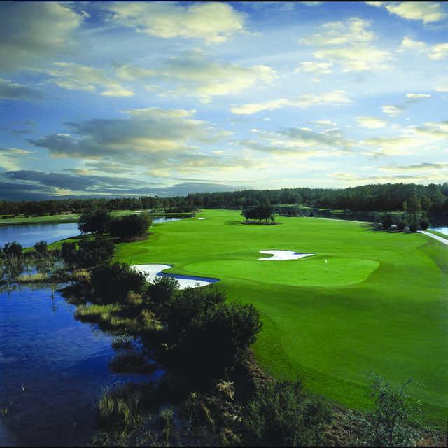 Aerial view of a green at Grande Lakes at Ritz-Carlton Resort