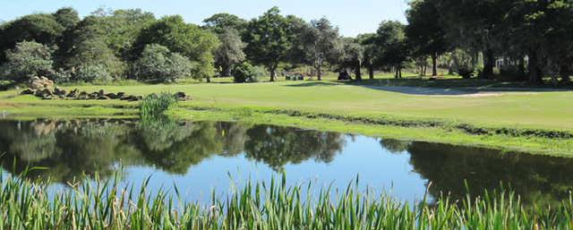A view of the 15th green at Tomoka Oaks Golf & Country Club