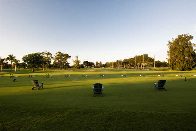 A view of the driving range at Fort Lauderdale Country Club