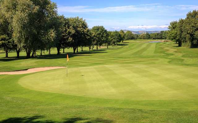Looking back from the 6th green at Isle of Wedmore Golf Club