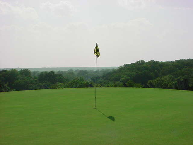 A view of green #11 at Lost Pines Golf Course