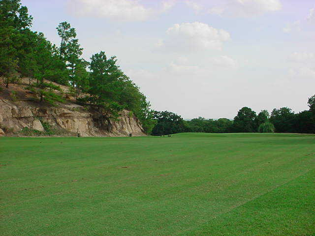 A view of the 4th green approach at Lost Pines Golf Course