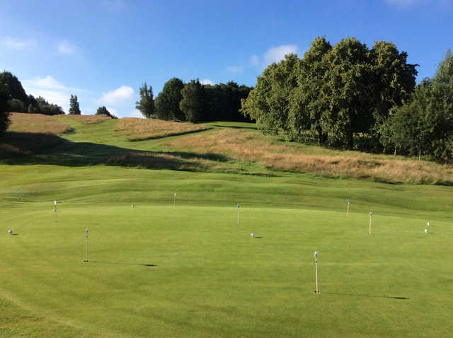 View of the putting green from Cowglen Golf Club