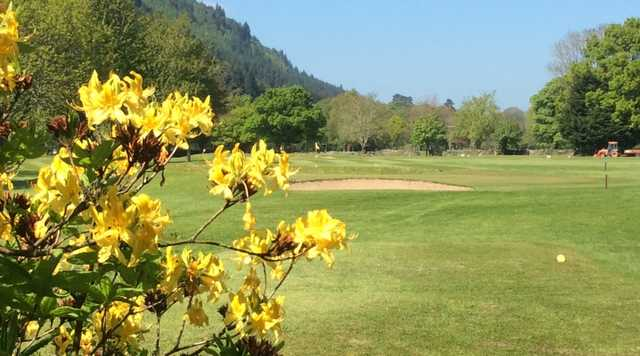 A view of the 5th tee at Betws-y-Coed Golf Club.
