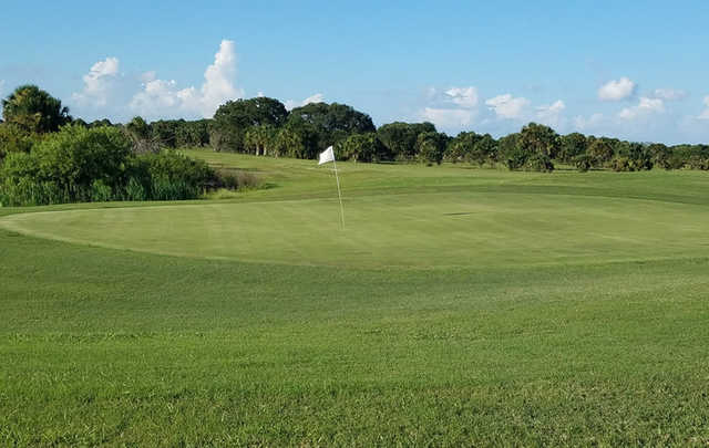 A view of a green at The Glades Resort.