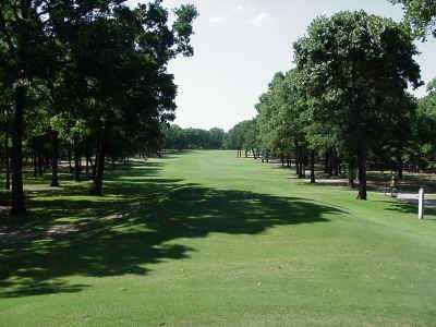 A view of hole #8 from tee at Pinnacle Club