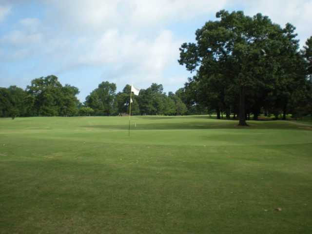 A view of the 2nd green at Clarksville Country Club.