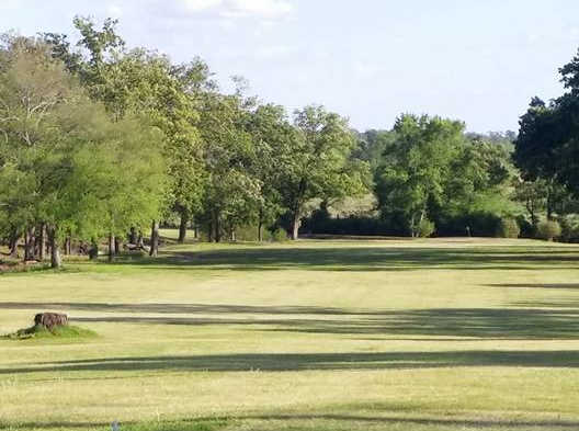 A view of a fairway at Gilmer Country Club.