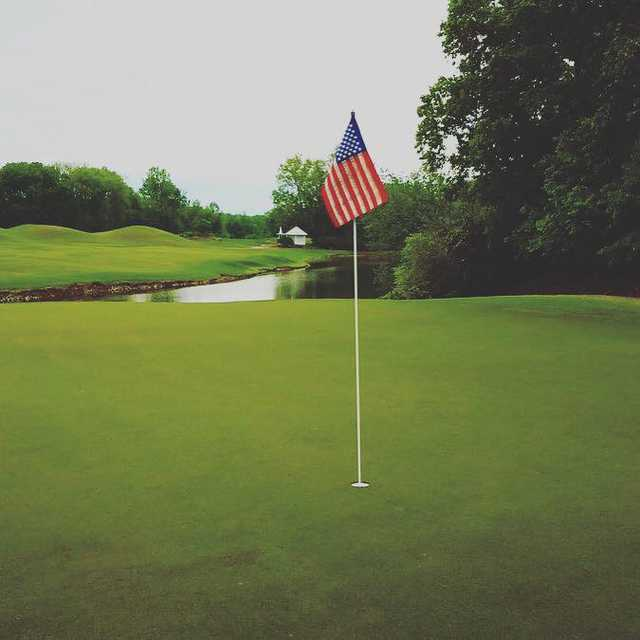 A view of a green at Graham Country Club.