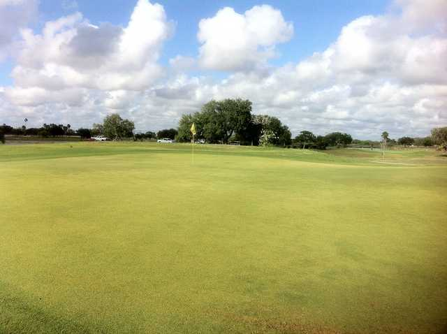 A view of a hole at  L.E. Ramey Golf Course.