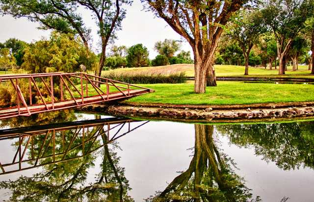 A view over a bridge at Odessa Country Club.