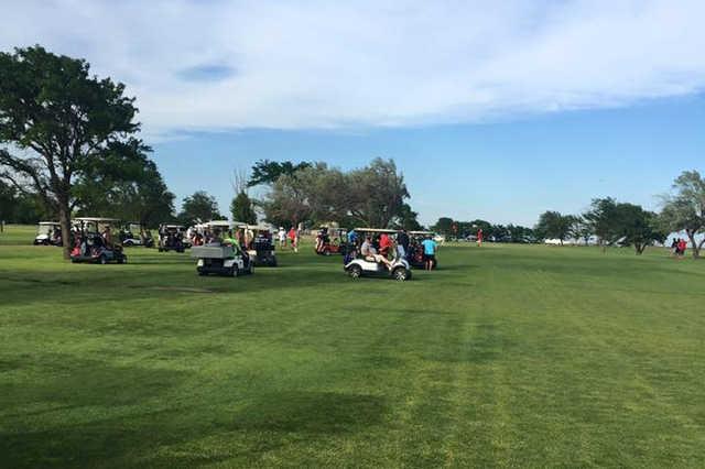 A view of a fairway at Perryton Golf Club.