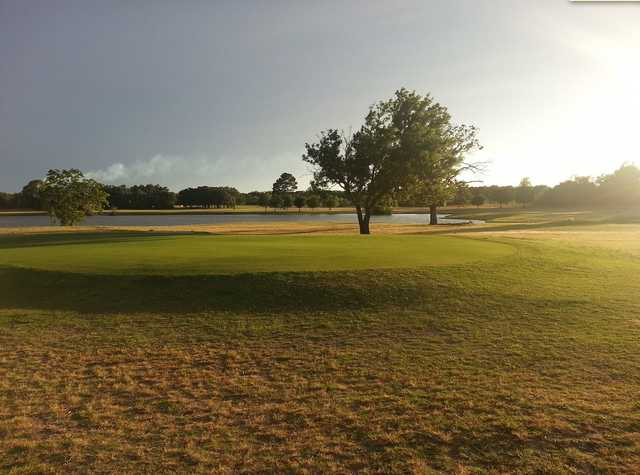 A view of a green at Rockdale Country Club.