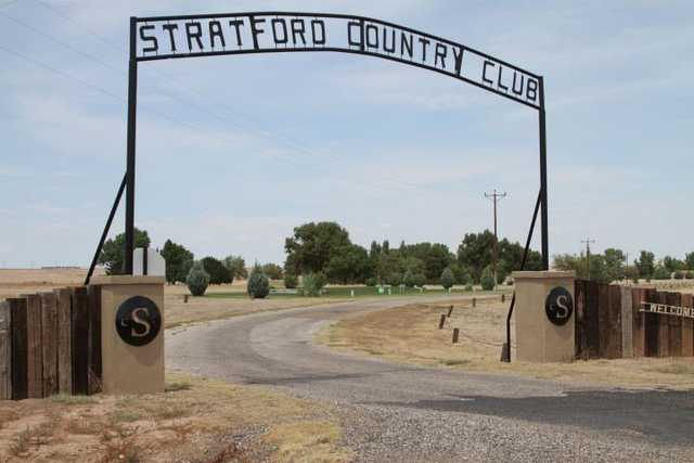 A view of the entrance at Stratford Country Club.